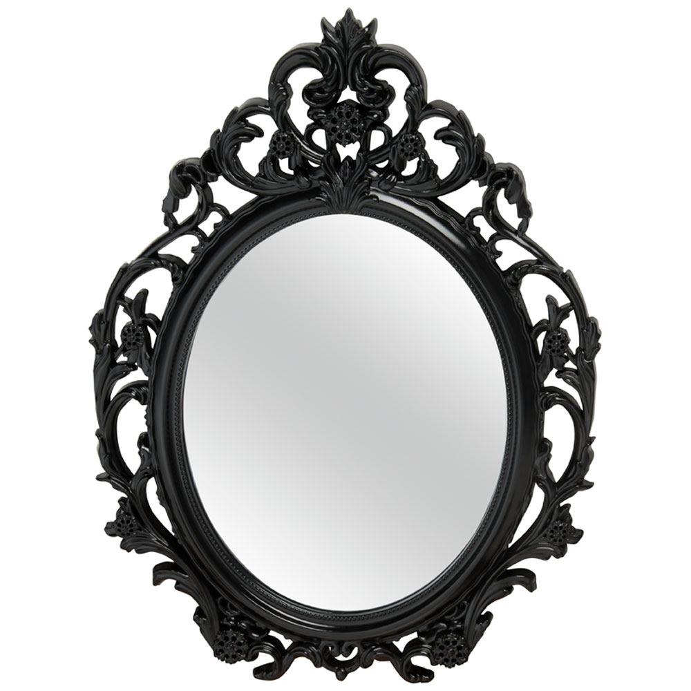 Image gallery miroir for Miroir noir baroque