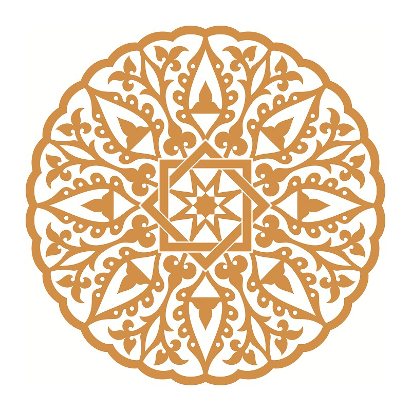 sticker-islam-mosaique-or